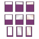 Vision Free Standing Office Partition Room Divider Screens - choice of 12 Colours 4 Heights & 2 Widths