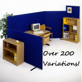 *NEW* Linking Office Partition Room Divider Screens choice of 12 Colours 4 Heights & 6 Widths