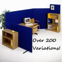 *NEW* Free Standing Office Partition Room Divider Screens - choice of 12 Colours 3 Heights & 6 Widths