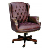 Chairman Swivel (burgundy)
