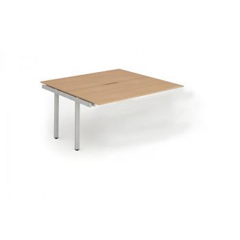 B2b Ext Kit Silver Frame Bench Desk 1600 Beech