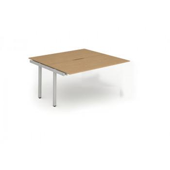 B2b Ext Kit Silver Frame Bench Desk 1200 Oak