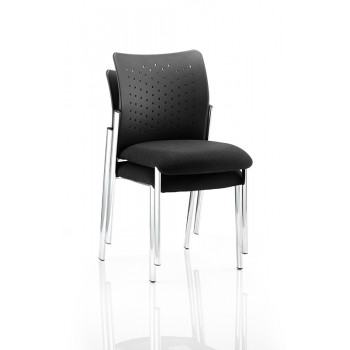 Academy Visitor Chair Black Without Arms