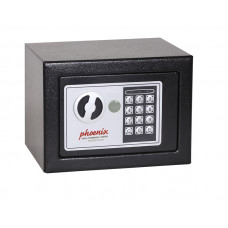 Phoenix Compact Home Office Ss0721e Black Security Safe With Electronic Lock