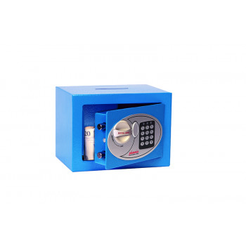 Phoenix Compact Home Office Ss0721e Blue Security Safe With Electronic Lock & Deposit Slot