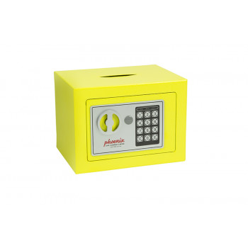 Phoenix Compact Home Office Ss0721e Yellow Security Safe With Electronic Lock & Deposit Slot