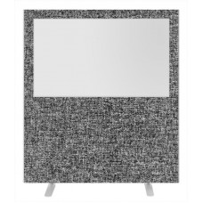 Impulse Plus Clear Half Vision 1800/1600 Floor Free Standing Screen Lead Fabric Light Grey Edges