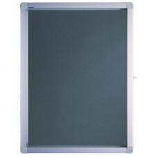 Premiumline Outdoor Display Cases Swinging Door, 4 X A4, 53 X 70.4 X 4.5 Cm, Grey Felt