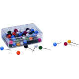 Assorted Round Pushpins 100 Pieces Size 18 Mm