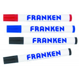 Board Markers Refillable Line Width 2-6 Mm 2 X Black 1 Each In Red And Blue 4 Pieces