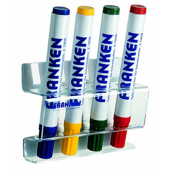 Magnetic Board Marker Holder For 4 Board Markers Acrylic Transparent Magnetic