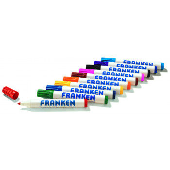 Board Markers Refillable Line Width 2-6 Mm 10 Pieces