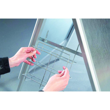 Chromed Cage (plaited) For Din A4 Brochures For  Bsa1