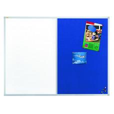 Valueline Combiboard Whiteboard/felt 90 X 60 Cm; Blue