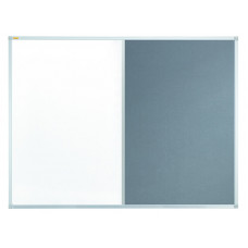 Valueline Combiboard Whiteboard/felt 90 X 60 Cm; Grey