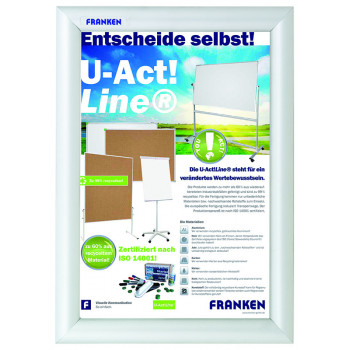 Premiumline Indoor Snap Frame Fire Resistant, A4 - 24,1x32,8x1,1cm