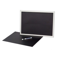 Pvc Foil For A-boards And Snap Frames, 2 Pieces, Size: 59.3 X 84.1 Cm, Black