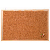 Cork Pin Board With Wooden Frame 80 X 60 Cm