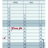 Date Strips For Jk703, Self-adhesive