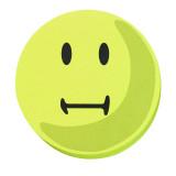 Evaluation Symbols, 9.5 Cm Dia., Yellow, Neutral, 100 Pieces, Self-adhesive