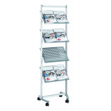 Brochure Shelving Pro, 8 Shelves, 168 X 54 X 42 Cm, Metal
