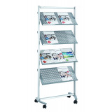 Brochure Shelving Pro, 12 Shelves, 168 X 76 X 42 Cm, Metal
