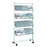 Brochure Shelving Pro, 16 Shelves, 168 X 97 X 42 Cm, Metal