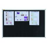 Felt Notice Board Valueline 120 X 90 Cm, Black