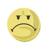 Valuation Symbols, 9.5 Cm Dia., Yellow, Negative, 100 Pieces