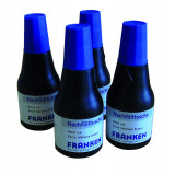 Indian Ink Refill Cartridge For Board Markers And Jumbomarkers, 4 X 25 Ml, Blue