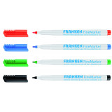 Finemarkers, Line Width 2 - 6 Mm, 1 Each In Red, Green, Blue And Black, 4 Pieces