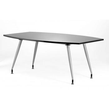 1800 Boardroom Table High Gloss Black