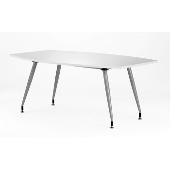1800 Boardroom Table High Gloss White
