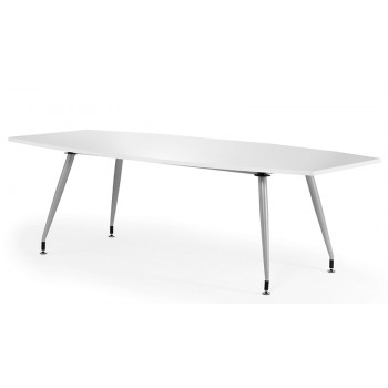 2400 Boardroom Table High Gloss White