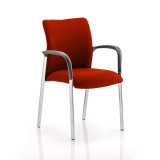 Academy Bespoke Colour Fabric Back And Bespoke Colour Seat With Arms Tabasco Red