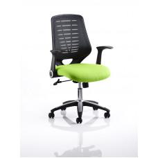 Relay Task Operator Chair Bespoke Colour Black Back Myrrh Green