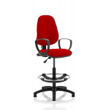 Eclipse I Lever Task Operator Chair Bergamot Cherry Fully Bespoke Colour With Loop Arms With Hi Rise Draughtsman Kit