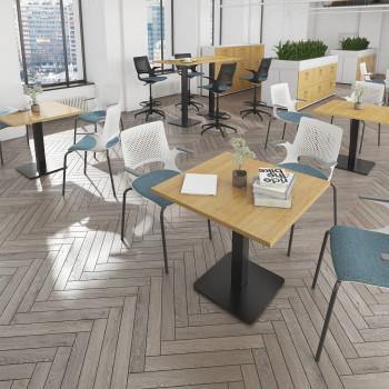 Brescia Square Poseur Table Square Base