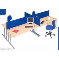 Office Desktop Partition Divider Screen 45cm (h) Clamps included,12 colours