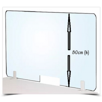 Acrylic Clear Barrier Desk Divider Medical Office Screen 80cm(h)