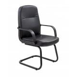 Canasta Visitor Pu Chair - Black