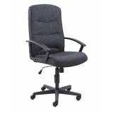 Canasta Ii Fabric Chair - Charcoal