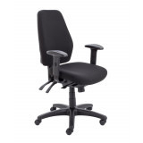 Call Centre Chair Without Seat Slide - Black