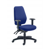 Call Centre Chair Without Seat Slide - Royal Blue