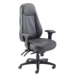 Cheetah Leather Chair - Black