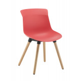Chester Wooden 4 Leg  - Coral