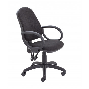 Calypso Ii High Back Chair With Fixed Arms - Charcoal