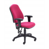 Calypso Ii High Back Chair With Adjustable Arms - Claret