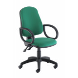 Calypso Ii High Back Chair With Fixed Arms - Green