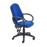 Calypso Ii High Back Chair With Fixed Arms - Royal Blue